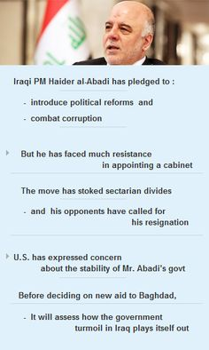 #US has expressed concern over #stability of #Abadi's gov't #world #Iraq #ISIS #Syria #vc http://arzillion.com/S/rVRunQ
