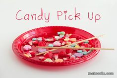 These games sound like so much fun for our Valentine's Day Party! Candy Pick up with Chop Sticks - Valentines Minute to Win It Games for Valentines Party Kinder Valentines, Valentines Games, Valentines Day Activities, Valentines Day Party, Valentine Day Crafts, Valentine Ideas, Holiday Crafts, Valentine Box, Kid Activities