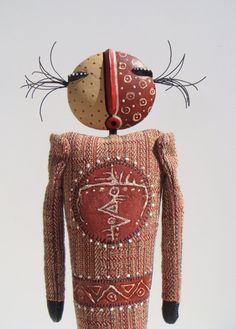 MaryArtDolls  Mixed Media Art Doll with Sculpted by MaryArtDolls, $290.00