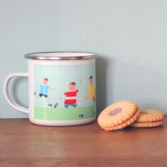 This Personalised Enamel Football Mug will make the perfect birthday or Christmas gift for children and they are great for camping holidays too! We have lots of fun and different animal designs to choose from, all designed by Kali Stileman. Novelty Mugs, Novelty Gifts, Special Gifts For Mum, Camping Holidays, Personalised Mugs, Christmas Gifts For Kids, Animal Design, All Design, Little Ones