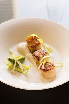 Marco Pierre White Grill Dubai's fresh citrus scallops at Conrad Dubai.