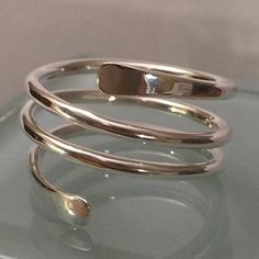 Sterling Silver Swirl Ring, Swirl ring, sterling silver thumb ring, sterling silver knuckle ring, th Golden Jewelry, Silver Jewelry, Silver Earrings, Sterling Silver Thumb Rings, Girls Jewelry Box, Gold Ring Designs, Silver Engagement Rings, Ring Engagement, Platinum Jewelry