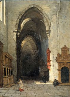 "Bosboom Johannes - Interior Of Cathedral In Trier In 1880 (from <a href=""http://www.oldpainters.org/picture.php?/47002/category/15854""></a>)"