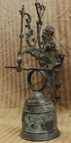 """Wall bell, """"Vocem Meam Audi, Qui Me Tangit"""" - Jul 2012 Temple Bells, Decorative Bells, Table Lamp, Decorations, Crafts, Home Decor, Tinkerbell, Table Lamps, Manualidades"""