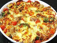 Baked Veggies With Traditional Italian Mozzarella Cheese Recipe Easy Italian Re. - Baked Veggies With Traditional Italian Mozzarella Cheese Recipe Easy Italian Recipes - Oven Baked Vegetables, Italian Vegetables, Veggies, Recipes With Mozzarella Cheese, Cheese Recipes, Italian Pasta Recipes, Italian Cooking, Vegetable Recipes, Vegetable Bake