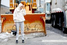 Street Style en New York Fashion Week, febrero 2015 © Jessie Bush