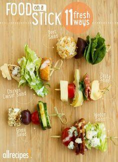 No fork needed: Serve your favorite salad on fancy toothpicks for a fresh appetizer.