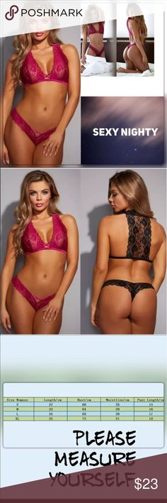 ⭐️⭐️⭐️⭐️Sz L-XL Sexy Night of Day Lace Underwear G String T back this listing is for Rose  Red Lace  with a unique back view.  No underwire or padding. Made of Lace and Spandex Material RUNS ONE SIZE SMALLER  @roedarryl Intimates & Sleepwear