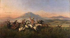 Raden Saleh - Six Horsemen Chasing Deer, 1860 - Raden Saleh - Wikipedia, the free encyclopedia