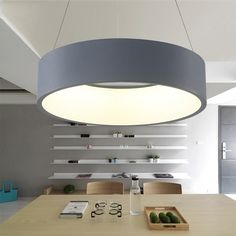 Modern Led Pendant Lights Circle Suspension For Dining Room Pendant Lamps  Home Decoration Light Fixtures 9163