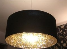 Glitter the inside if a lamp shade
