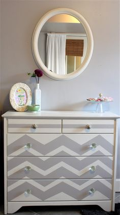 DIY Dresser Makeover: Love Me Some Chevron
