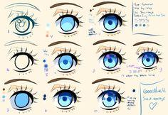 Step by Step - Manga eye Tutorial + video tutorial by Saviroosje.deviantart.com on @deviantART