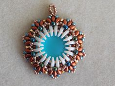Beaded Tutorial Beading Pattern Bead Pendant by poetryinbeads