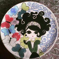Pottery Painting, Ceramic Painting, Fabric Painting, Ceramic Art, Pottery Place, Wal Art, Painted Wine Bottles, Turkish Art, Plate Art