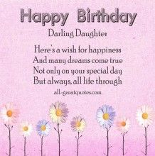 Happy Birthday Poems For Daughter   Happy Birthday Wishes, Greeting Cards, Poems And Messages For Family