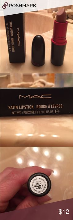 Lipstick Brand new MAC lipstick with box, not the right shade for me, never used MAC Cosmetics Makeup Lipstick