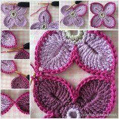 Luty Artes Crochet: Xale de flores                              …