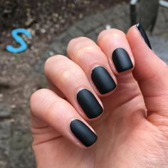 Memento Mori with Miracle Gel Matte top coat. First of all, it's true, this is the perfect 1 coat black cream. Matte Top Coats, Memento Mori, Sally Hansen, Black Cream, Matte Black, Beauty, Instagram, Momento Mori