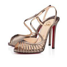 christian louboutin peep-toe pumps Oxblood leather covered heels ...