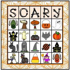 Halloween BINGO~For k-5th Grade or Ability Level and Beyond. #HalloweenBINGO https://www.teacherspayteachers.com/Product/Halloween-BINGO-1485327