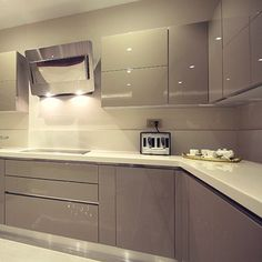 Guide to Lighting Your Kitchen Kitchen Room Design, Kitchen Cabinet Design, Modern Kitchen Design, Home Decor Kitchen, Interior Design Kitchen, Kitchen Furniture, Home Kitchens, Modern Kitchen Interiors, Modern Kitchen Cabinets