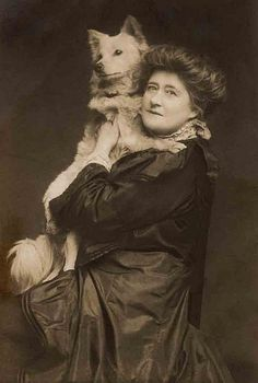 Another dog that looks like mine. :) Even back in the 1900's, people loved their pets. I can tell this lady really loved her dog.