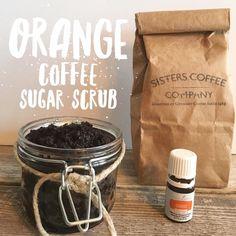 Orange ☕️Coffee Sugar Scrub #DIY with   Young Living Orange Oil      Recipe on Blog