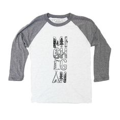Michigan Totem 3/4 T-shirt - Ardent Ink