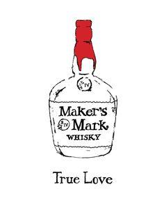 Makers Mark Bourbon illustration- illustrated by Dana Wyatt of Spruce Avenue