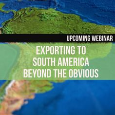 This webinar will give you an overview of what it's really like doing business in South America. The presenter will explore key markets and sectors, and will give you some no-nonsense advice on how to get started and how to grow your business in countries like Chile, Argentina, Colombia and Peru.  Learn more: http://www.enterprisecanadanetwork.ca/english/events/export-success-webinar-exporting-to-south-america-beyond-the-obvious.htm