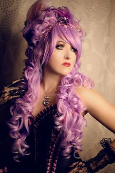 Marie Antoinette Wig / Rococo Style Wig /  Masquerade Party Wig / Powdered Wig / Baroque Wig/ Princess Wig/ Cosplay