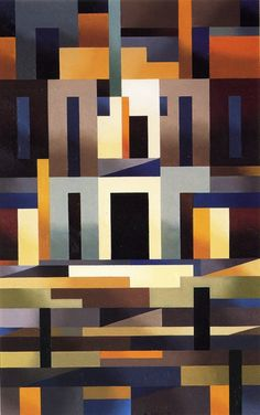 Composizione, 1971 (oil). Aldo Galli was an Italian painter who founded and directed the School of Fine Art Restoration in 1976