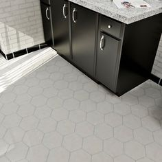 SomerTile 7 x 8-inch Hextile Glossy Grey Porcelain Floor and Wall Tile (Case of 14)   Overstock.com Shopping - The Best Deals on Floor Tiles