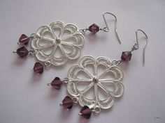 Handmade Sterling Silver  Filigree Earrings/ by TrulyFiligree, $65.95
