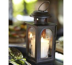 Mini Bronze Tealight Lanterns #potterybarn