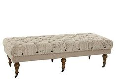 tufted scripted ottoman