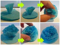 Cómo hacer flores de servilletas