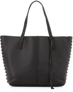 Rebecca Minkoff Studded Pebbled Leather Tote Bag, Black on ShopStyle