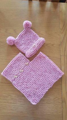 Poncho Knitting Patterns, Knitted Poncho, Knit Patterns, Girls Poncho, Baby Poncho, Knitting For Kids, Hand Knitting, Garter Stitch, Crochet Stitches