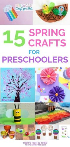 15 Spring Crafts for Preschoolers - Toot's Mom is Tired 4 Yr Old Crafts, Crafts For 2 Year Olds, Bug Crafts, 3 Year Old Craft, Tree Crafts, 4 Year Olds, Spring Toddler Crafts, Easy Toddler Crafts, Summer Crafts