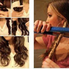 Pour avoir les cheveux ondulé facilement et rapidement les filles!#lisser#ondulé#simple#facile#brune#tuto#girl#