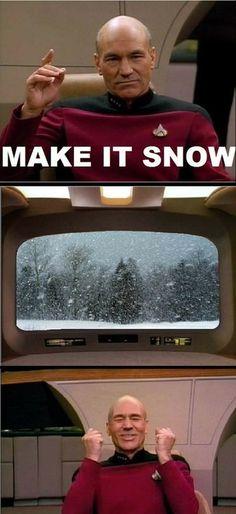 make it snow.