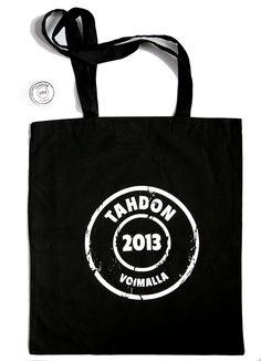 Tahdon2013-kampanjatuotteet, kassin ja pinssin, saat nyt Me We -kaupasta! Setti yhteensä VAIN 11,90 €. TILAA  osoitteesta www.mewe.fi.