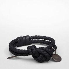 编纹小羊皮手镯 - 纳帕小羊皮 - 编织手环 - Bottega Veneta® - ¥0