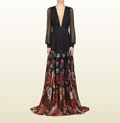 Stunning - GUCCI oshibana print belted gown