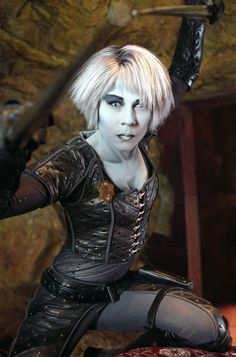 Gigi Edgley as Chianna (Pip) in Farscape [we named our family dog after her. Similar personality :)]
