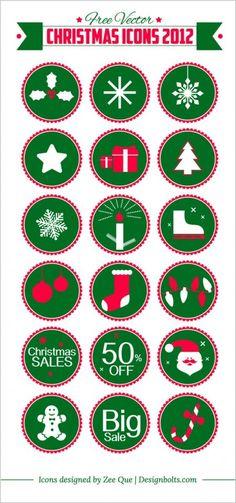 Free Vector Christmas Icons 2012