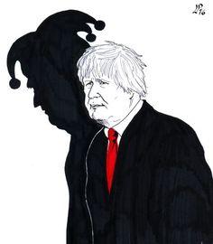 Paolo Lombardi A dark court jester. Political Comics, Political Art, Political Issues, Political Campaign, Caricatures, Uk Brexit, Court Jester, Boris Johnson, Ol Days