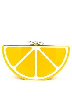 Acrylic Lemon Clutch Bag